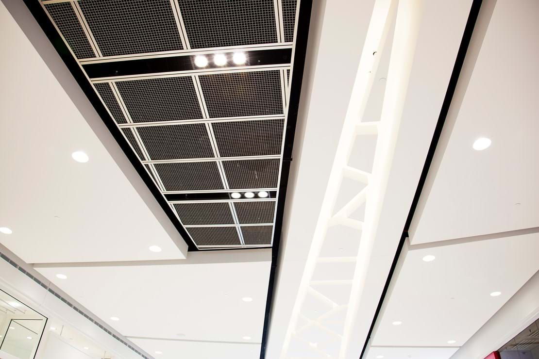 Mall Feature Ceilings and Lighting