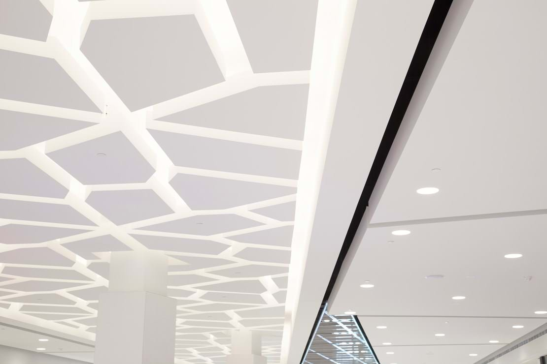 Floating Irregular Shaped Mall Feature Ceiling
